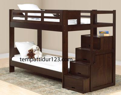 Tempat Tidur Anak Tingkat Tangga 4 Susun