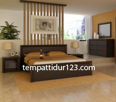 Jual Tempat Tidur Minimalis Kayu Jati
