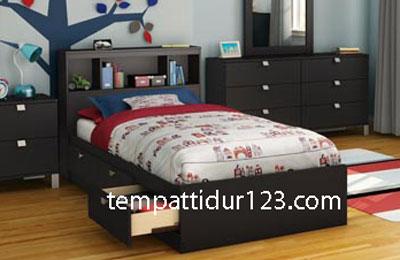 Tempat Tidur Anak Model Laci-laci