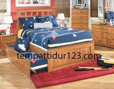 Tempat Tidur Anak Laci 1 Susun