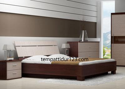 Tempat Tidur  Minimalis Kombinasi Mdf