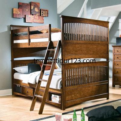 Tempat Tidur Tingkat Minimalis Jari-jari