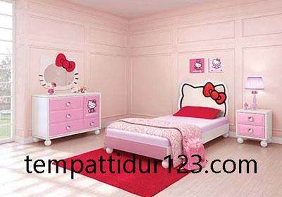 Kamar Set Anak Perempuan Model Hello Kitty