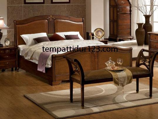 Tempat Tidur Ukir Semi Clasic Tradisional