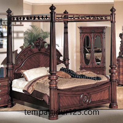 Tempat Tidur Kanopi Mewah Raja Jepara