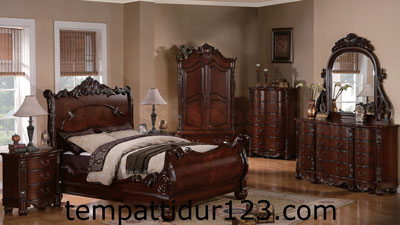 Furniture Jati Set Kamar Utama Bagong Ukir