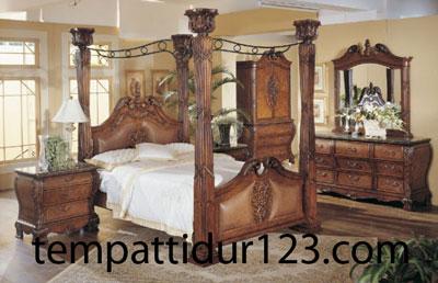Furniture Kanopi Mewah Desain Ukiran Classic