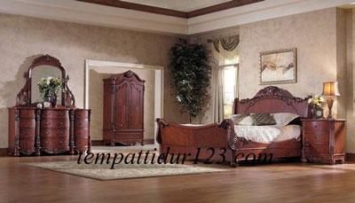 Ranjang Set kamar Tidur Ukir Monalisa