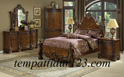 Furniture Anak Set Ranjang Motif Raja Jepara II