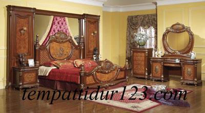 Furniture Jati Set Tempat Tidur Raja Mewah