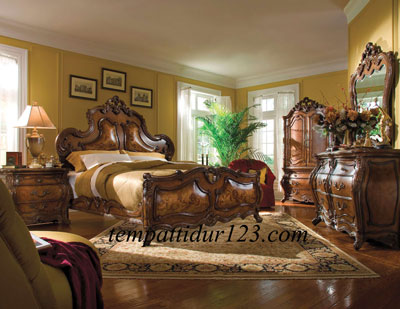 Furniture Jati Set Kamar Ukir Murah