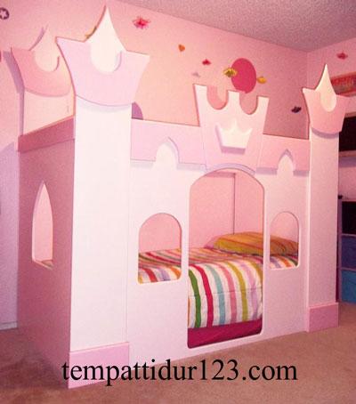 Tempat Tidur Anak Karakter Istana Mewah