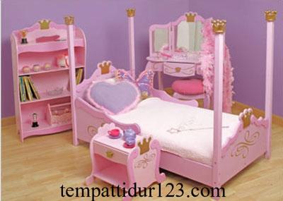 Tempat Tidur Anak Karakter Princes