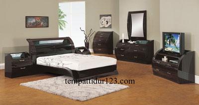 Bed Set Minimalis Modern Lengkung