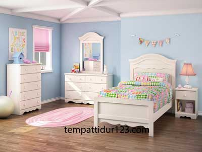 Ranjang Set Anak Sederhana